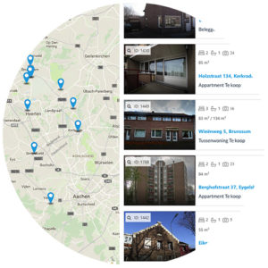 Pyber CRM - makelaars websites zoeken via google maps