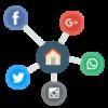 Pyber crm makelaarssoftware - social media koppeling